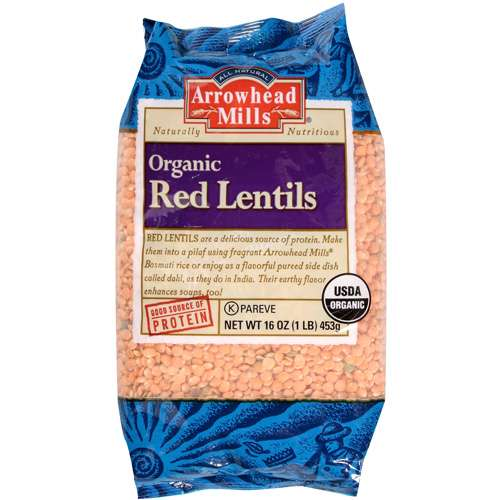 Arrowhead Mills Organic Red Lentils, 16.0 OZ