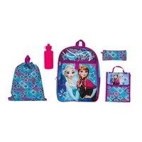 """Disney Frozen 16"""" Inch Backpack School Essentials Set for Girls"""