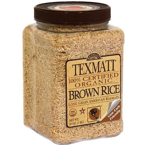 Texmati Organic Brown Rice, 32 oz (Pack of 4)