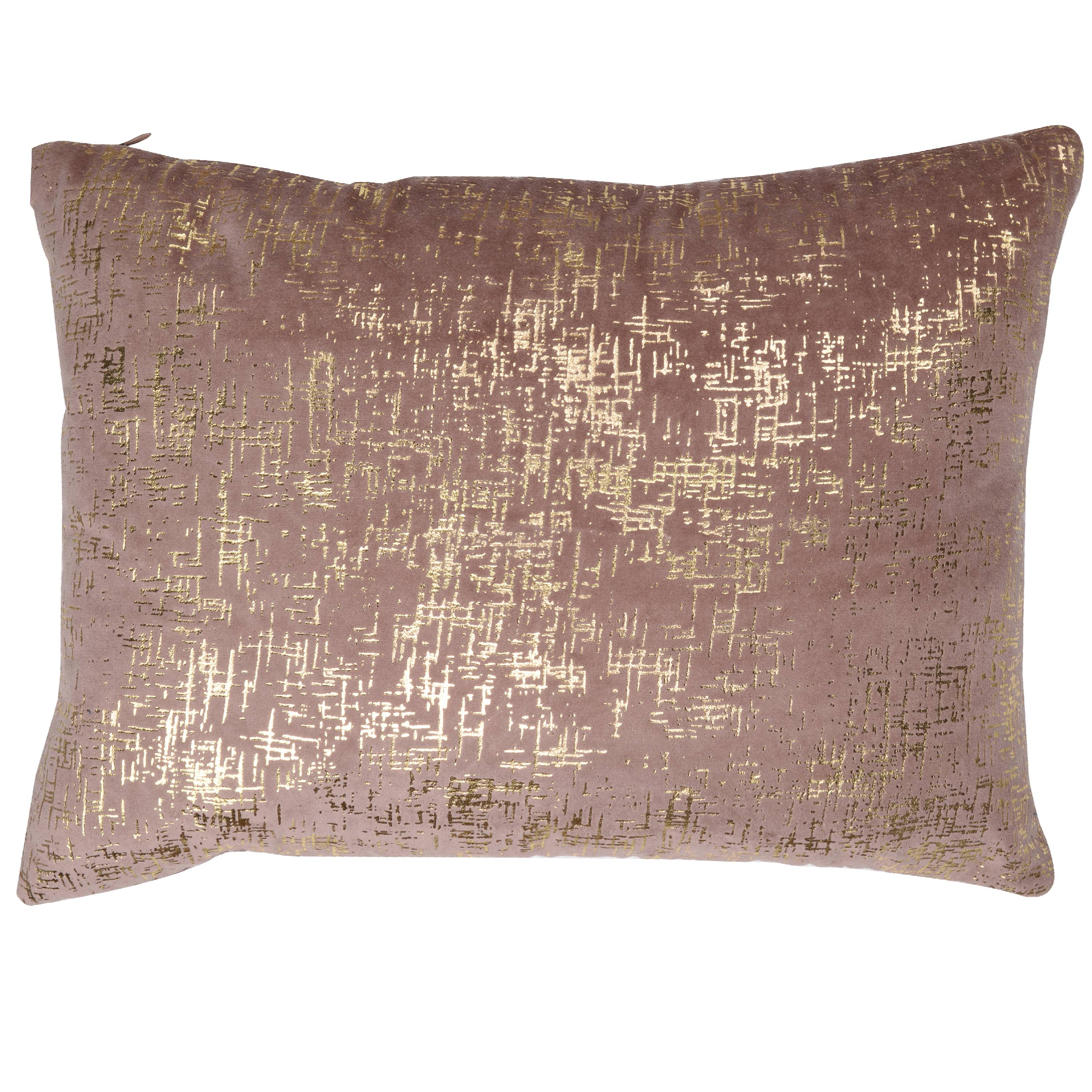 A&B Home Dashiell Silver Beaded Throw Pillow, Dark Pink, 14 by 20-Inch by A&B Home
