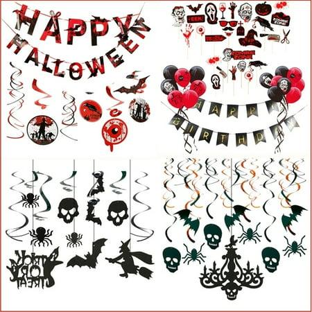 Victorian Style Halloween Decorations (10/13/20/48pcs Halloween Hanging Swirl Decorations Gothic Style Indoor Party Decor)