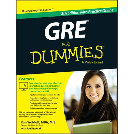 GRE for Dummies : With Online Practice Tests - Test Dummy Costume
