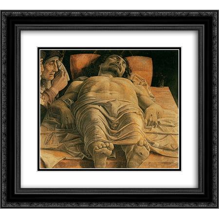 Andrea Mantegna 2x Matted 22x20 Black Ornate Framed Art Print 'The Lamentation over the Dead (Andrea Mantegna The Lamentation Over The Dead Christ)