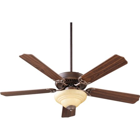 Scavo Finish (Indoor Ceiling Fans 2 Light With Oiled Bronze Finish Amber Scavo Glass Candelabra Base 17 inch 120)