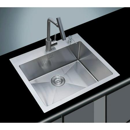 Stufurhome NW-2522SO Single Basin Overmount Kitchen Sink - Walmart.com