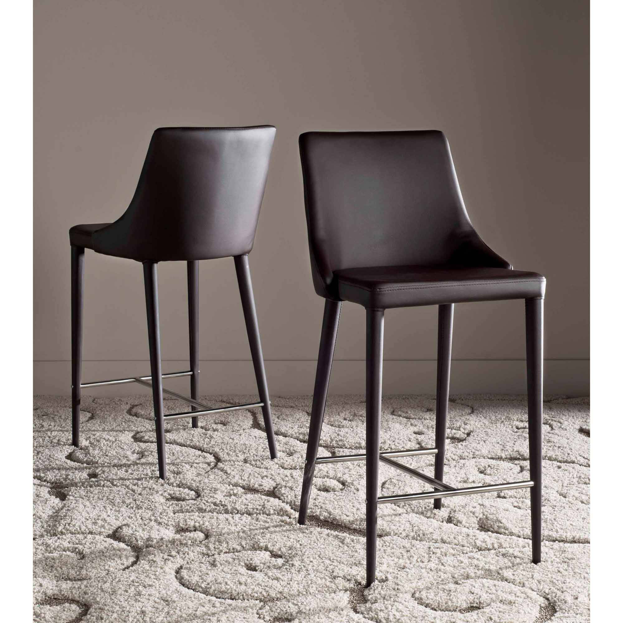Safavieh Summerset Bicast Leather Counter Stool Set Of 2