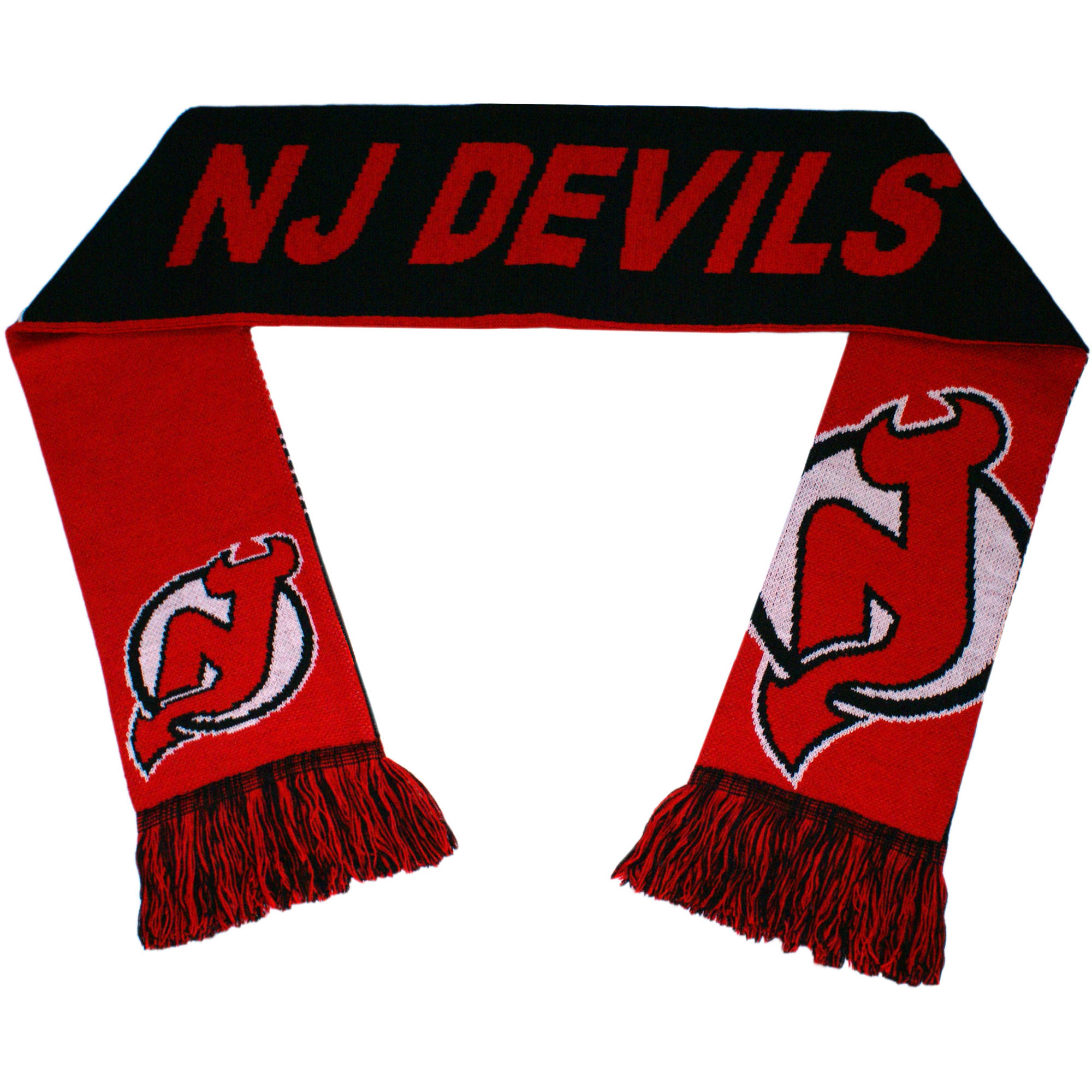NHL Forever Collectibles Reversible Split Logo Scarf, New Jersey Devils