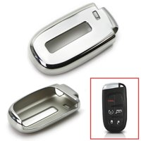iJDMTOY Chrome Finish Chrome TPU Key Fob Protective Cover Case For Dodge Charger Challenger Dart Durango Journey, Chrysler 200 300, Jeep Grand Cherokee, Renegade etc