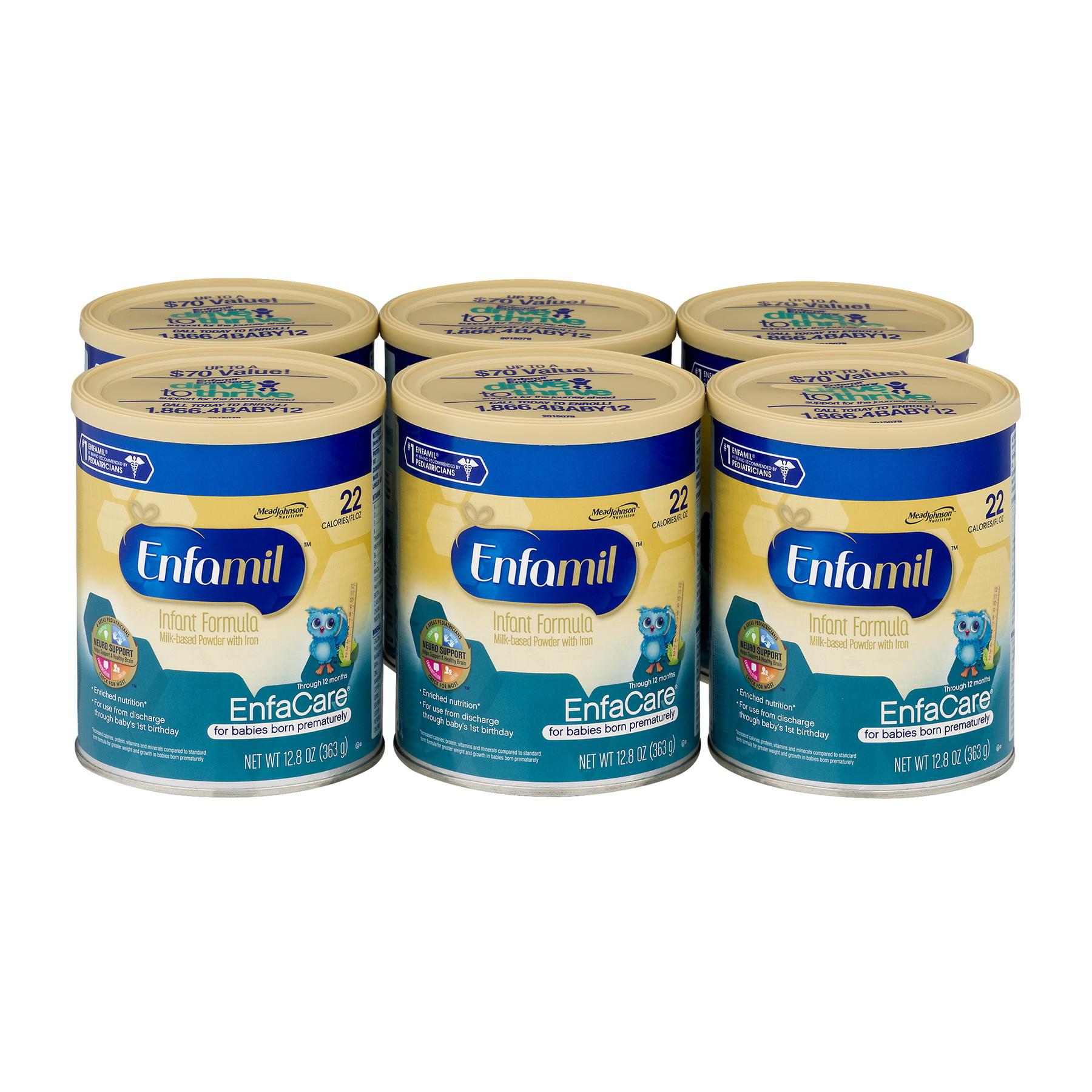 Enfamil EnfaCare Baby Bormula-12.8 oz Powder Can (Pack of 6)