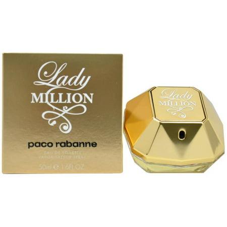Paco Rabanne Womens Lady Million Perfume  1 7 Oz