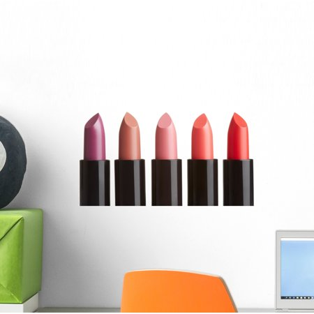 Rouge Peel (Five Colorful Lipsticks Wall Decal Sticker Set Wallmonkeys Individual Peel and Stick Graphics on a (12 in W x 8 in H) Sticker Sheet WM503001 )