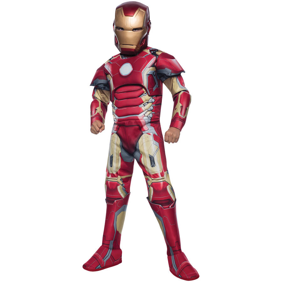 Iron Man Mark 43 Boys Child Halloween Costume, One Size, L (12-14)