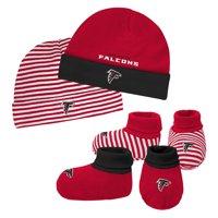 Newborn & Infant Red/Black Atlanta Falcons Cuffed Knit Hat & Booties Set - Newborn