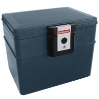 First Alert 2037F 0.62 Cu.Ft. Water and Fire Protector File Chest with Key Lock