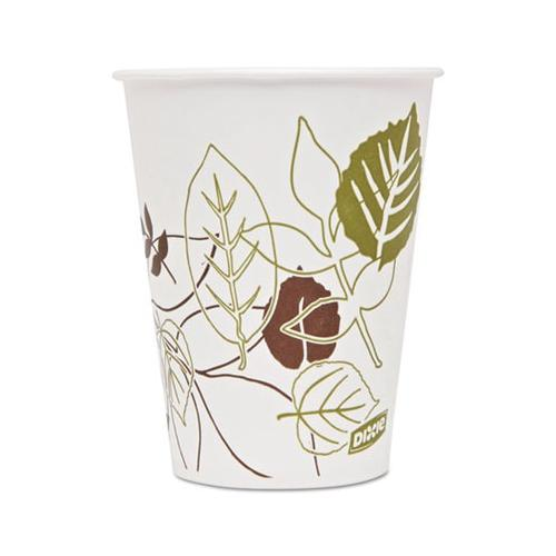 Dixie Pathways Polycoated Paper Cold Cups, 9 Oz, Green/burgundy, 100/pack DIX...