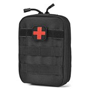 ASATechmed Tactical Military MOLLE First Aid IFAK Utility EMT Medical Pouch (Bag Only) Ideal Gift for First Responder, EMT, Paramedics, Soldiers, Police and More (Black)