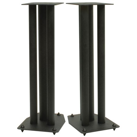 Dayton Audio SSMB24 24″ Speaker Stand Pair Square Steel Base