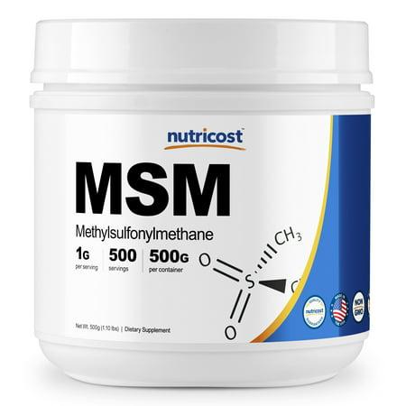 Nutricost Pure MSM Powder 500 Grams (Methylsulfonylmethane)