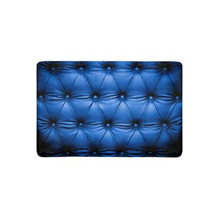 MKHERT Funny Dark Blue Leather Sofa Luxurious Art Doormat Rug Home Decor  Floor Mat Bath Mat 23.6x15.7 inch