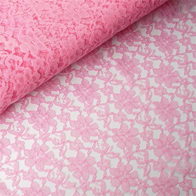 54 inch x 15 yards Lace Fabric Bolt - Pink
