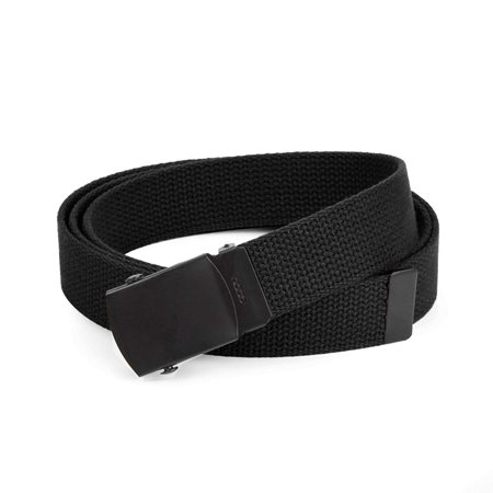 - Hold'Em Military Canvas Webbing Belts for MEN Black Slider Buckle Heavy Duty Adjustable