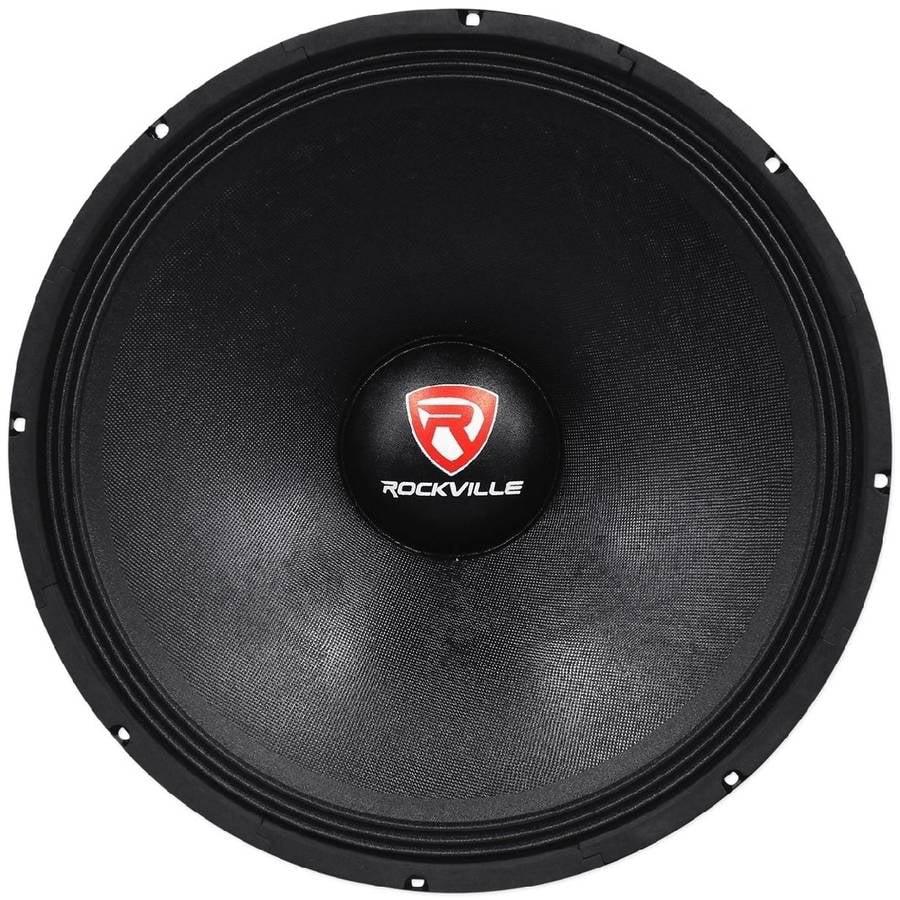 "Rockville RVP18W8 1200-Watt 18"" Raw Replacement DJ PA Subwoofer, 8 Ohms"