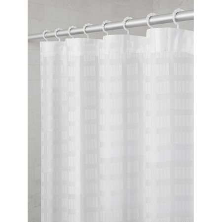 Maytex Smart Curtain Madison Fabric Shower With Attached Roller Glide Hooks