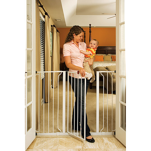 Regalo Extra Tall WideSpan Baby Gate, Pressure Mount with 2 Includes Extensions Kits