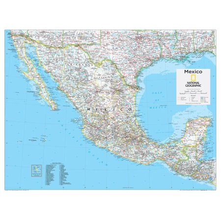 2014 Mexico - National Geographic Atlas of the World, 10th Edition Map Print Wall Art By National Geographic