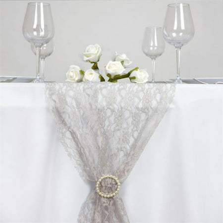 Efavormart Floral Lace Premium Table Top Runner For Weddings Birthday Party Banquets Decor Fit Rectangle and Round Table - Paper Table Runner Rolls