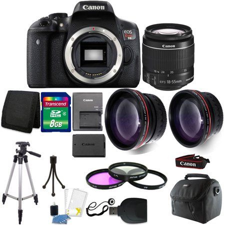 Canon EOS Rebel T6 DSLR Camera + EF-S 18-55mm IS II Lens Kit + Top Accessory