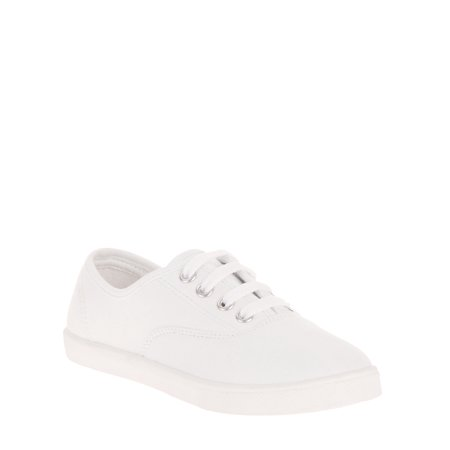 Italian Lace Shoes - Girls' Lace Up Canvas Casual Shoe