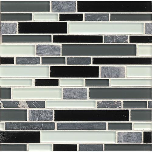 Bedrosians Tiffany Audrey Linear Glass Tiles 12 Inch X 12