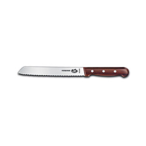 Victorinox 7-Inch Wavy Edge Bread Knife, Rosewood Handle by