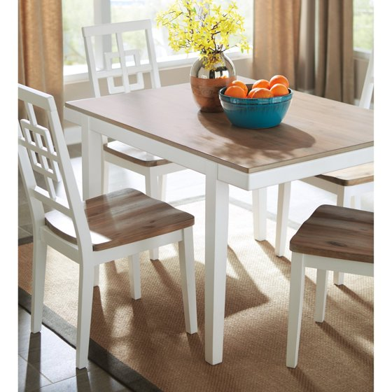 Signature Design by Ashley Brovada Rectangular Dining Table Set ...