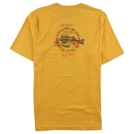 G.H. Bass & Co. Mens The Dropped Anchor Graphic T-Shirt, Yellow, Medium