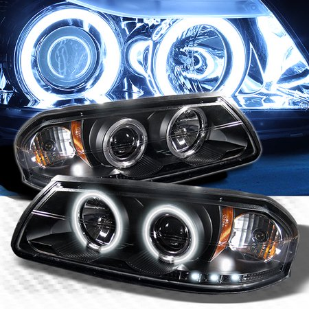 Ccfl Halo 2000 2005 Chevy Impala Led Projector Headlights Black Head Lights Lamp Pair Left Right 2001 2002 2003 2004