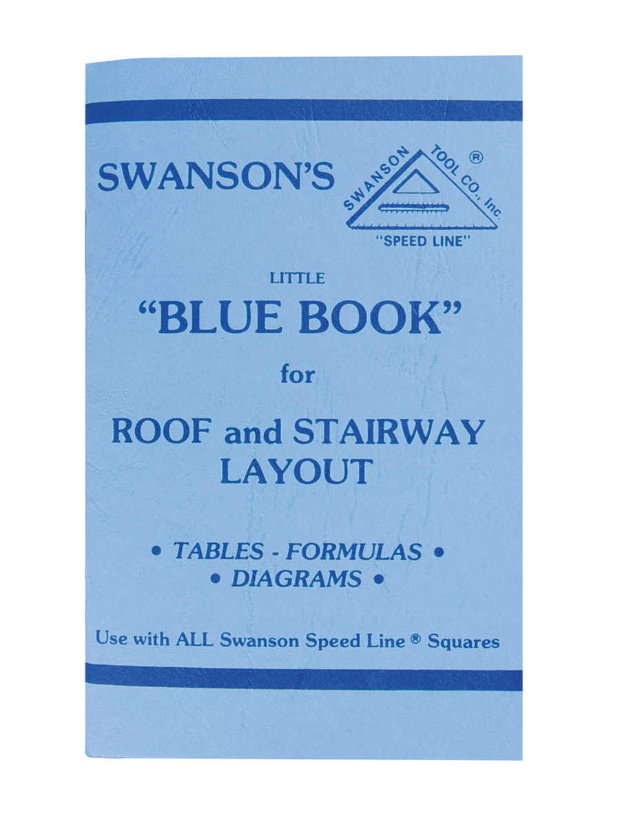 "Swanson P0110 Little ""Blue Book"" Instruction Book for Roof and Stairway Layout by Swanson"