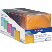 Verbatim Verbatim Color Cd/dvd Slim Cases, 50 Pk