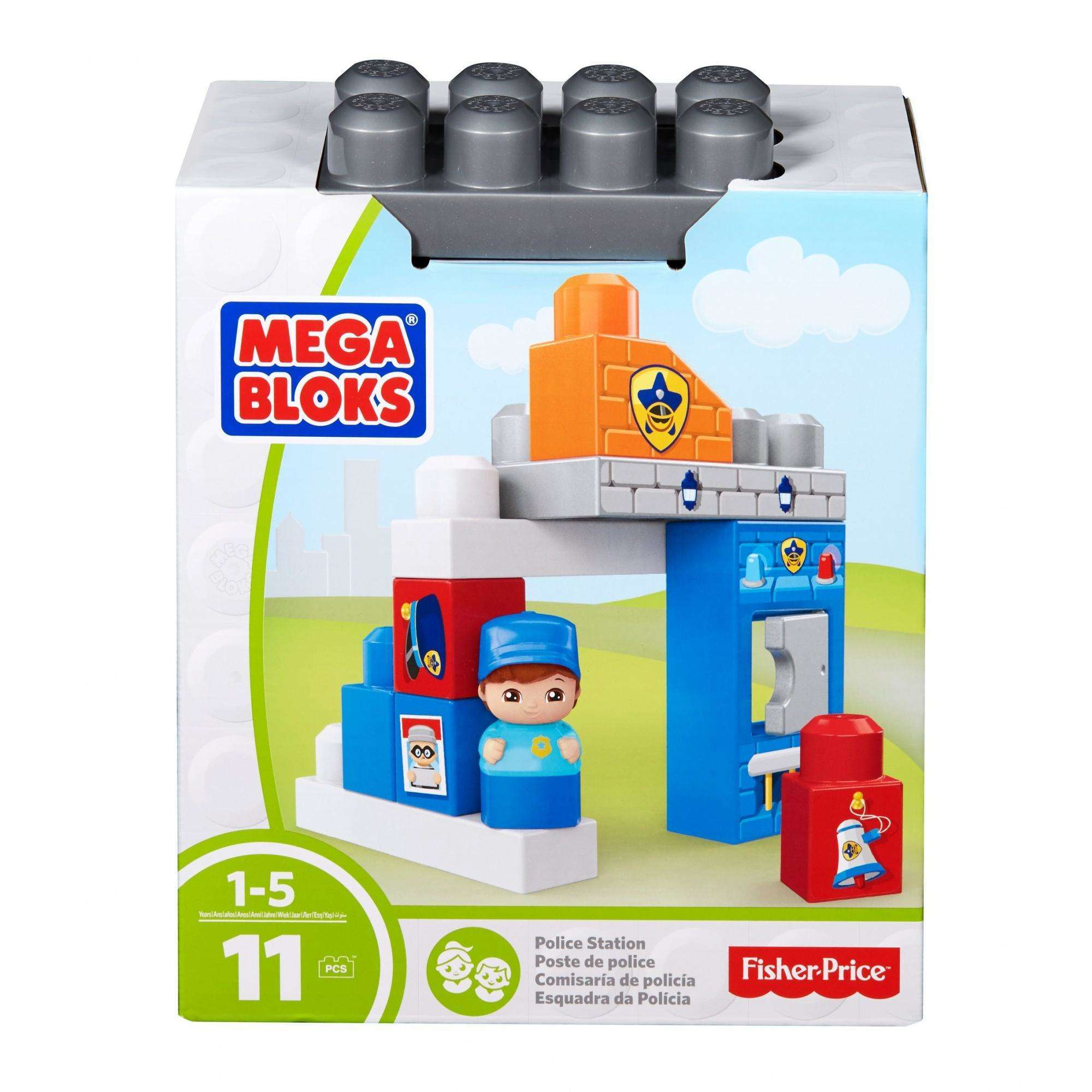 Mega Bloks Police Station with 1-Block Buddy, 11-Pieces