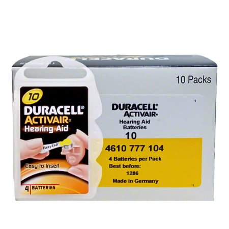 Duracell Size 10 Hearing Aid Batteries (40 Pack)