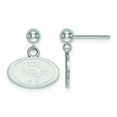 San Francisco 49ers Sterling Silver Small Logo Ball Post Earrings - No - Halloween Balls In San Francisco