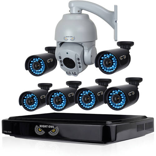 Night Owl 8-Channel HD (AHD) Video Security System with 1TB HDD, 6 x 720p HD Bullet Cameras and Professional 720p AHD Outdoor Security Camera