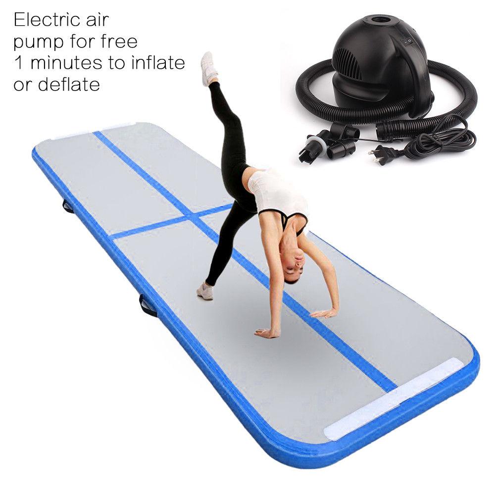 3m*0.9 Inflatable Gymnastics Tumbling Mat Air Floor Air Track w/ Air Pump