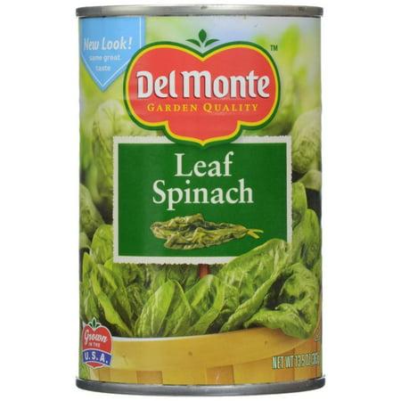 12 PACKS : Del Monte Leaf Spinach - 13.5 - Monet Leaf