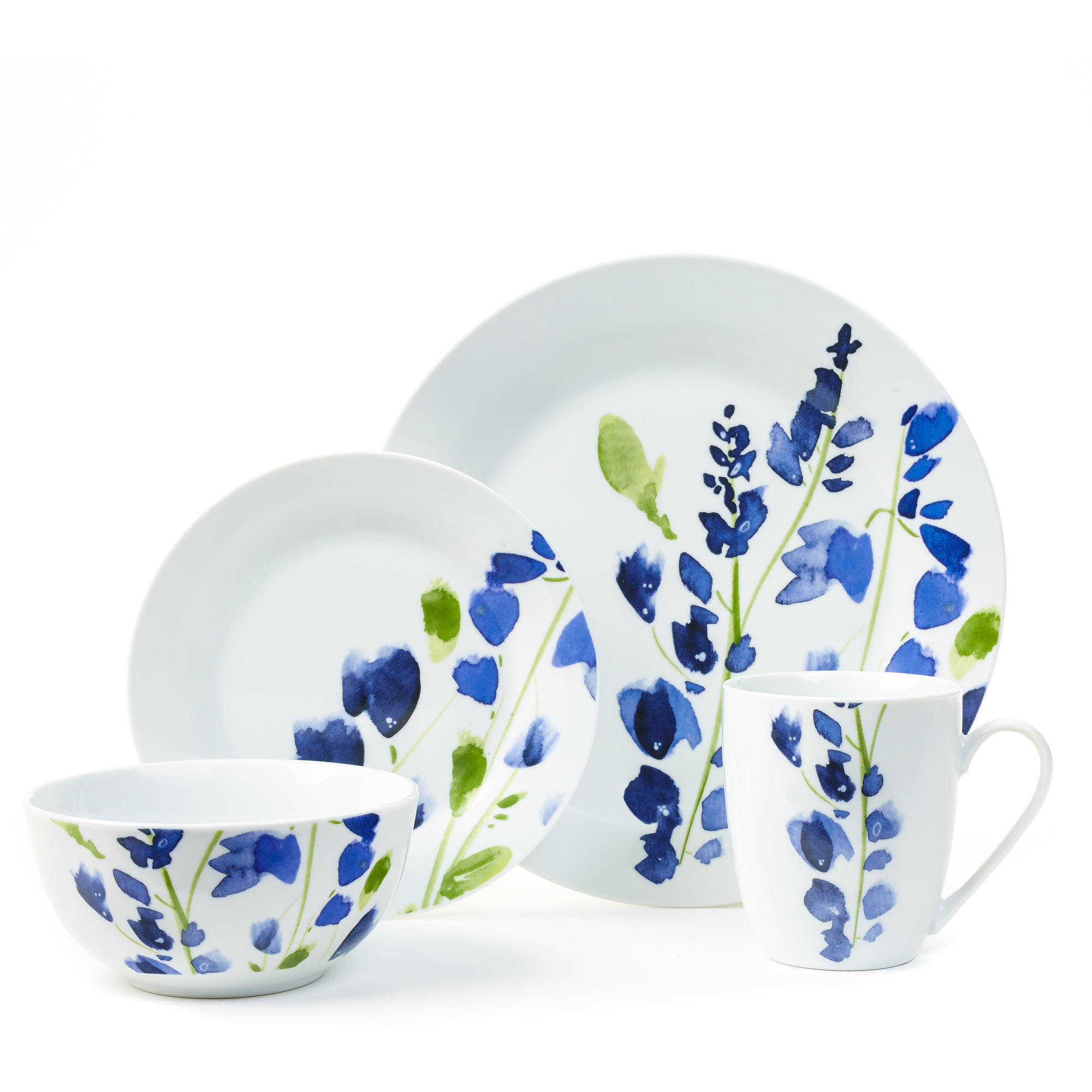 Placemate My Romantic Blue 16-Piece Porcelain ...  sc 1 st  eBay & Placemate My Romantic Blue 16-Piece Porcelain Dinnerware Set | eBay