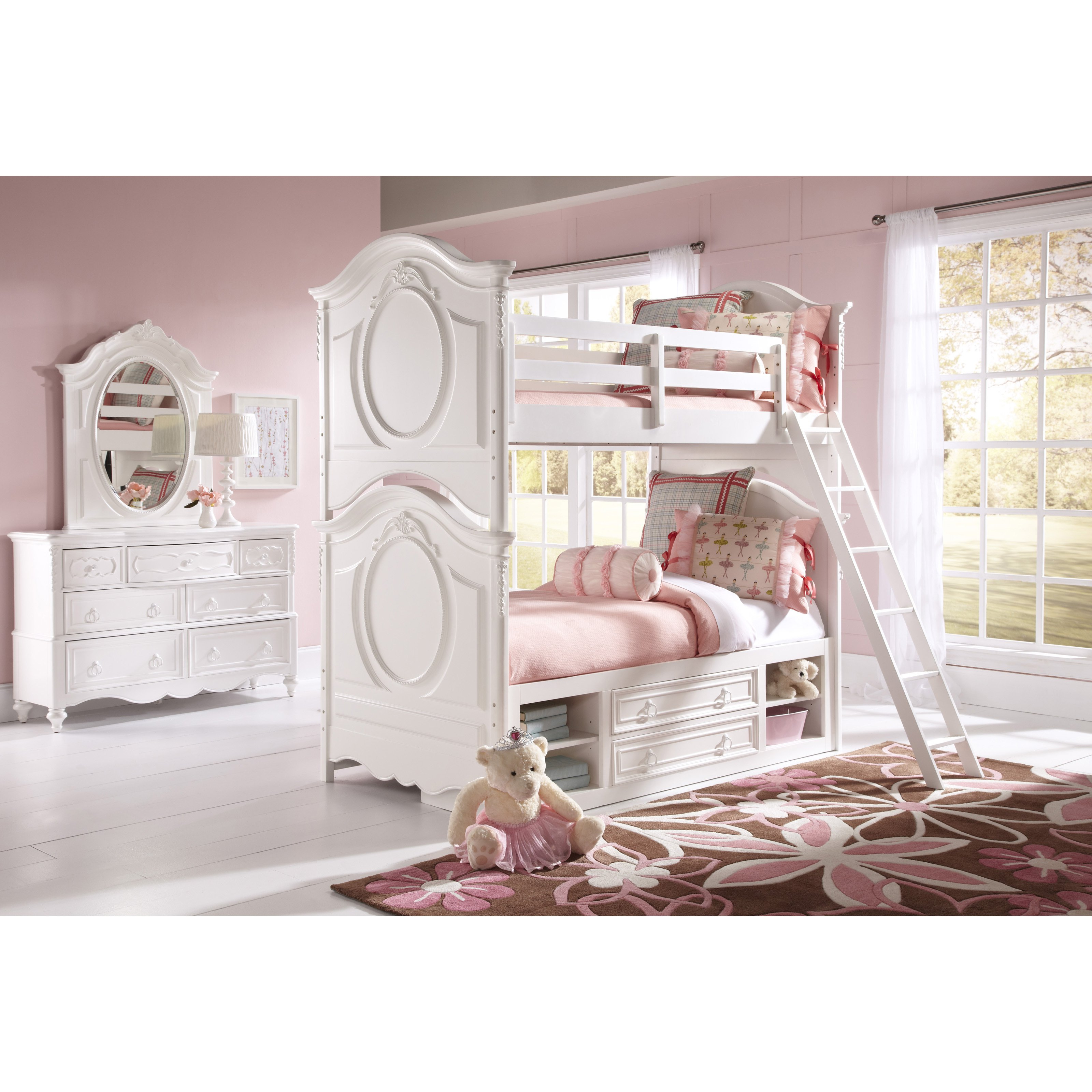 SweetHeart Twin over Twin Bunk Bed - White