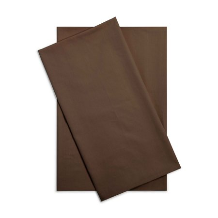 Mainstays 200 Thread Count Standard Pillowcase - Dark Brown