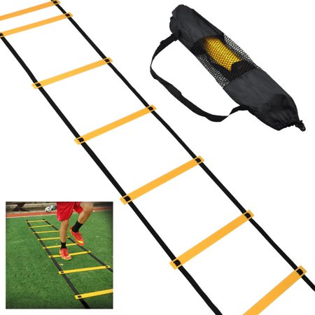 Football Ladder,Ymiko 4m 8 rungs Soccer Ball Football Flexibility Speed Training Fitness Jumping