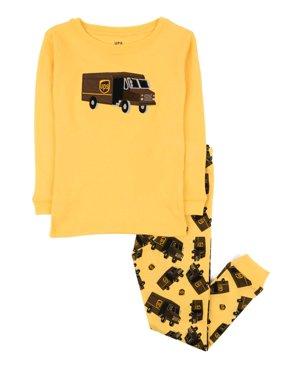 Leveret UPS Truck Kids & Toddler Pajamas Boys Girls 2 Piece Pjs Set 100% Cotton Sleepwear (2-14 Years)